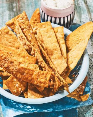 Cracker mit Olivenöl