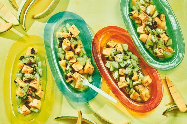 Wochenmarkt Gurke-Melone-Salat