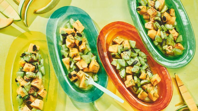 Salat: Vergurkte Melone
