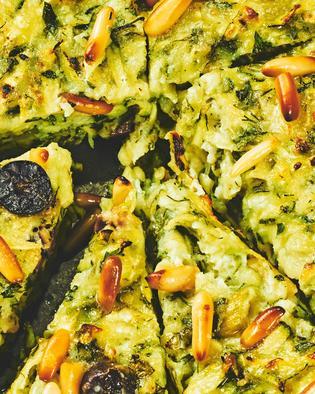 Gebackenes Zucchini-Omelett