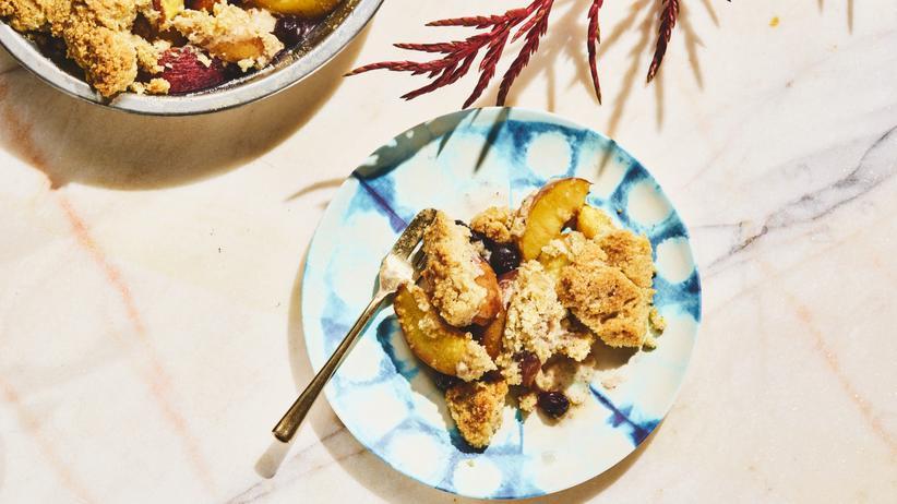 Gebackene Pfirsiche: Ein süßer Trost