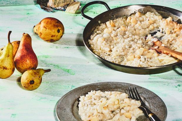 Risotto: Risotto mit Birnen und Gorgonzola