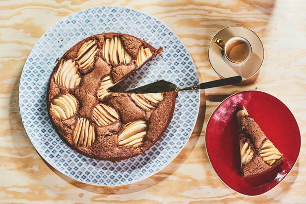 Wochenmarkt: Birnen-Schokoladen-Kuchen