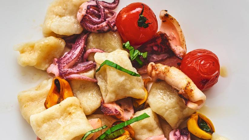 Rezepte: Cavatelli mit Muscheln und Tintenfisch