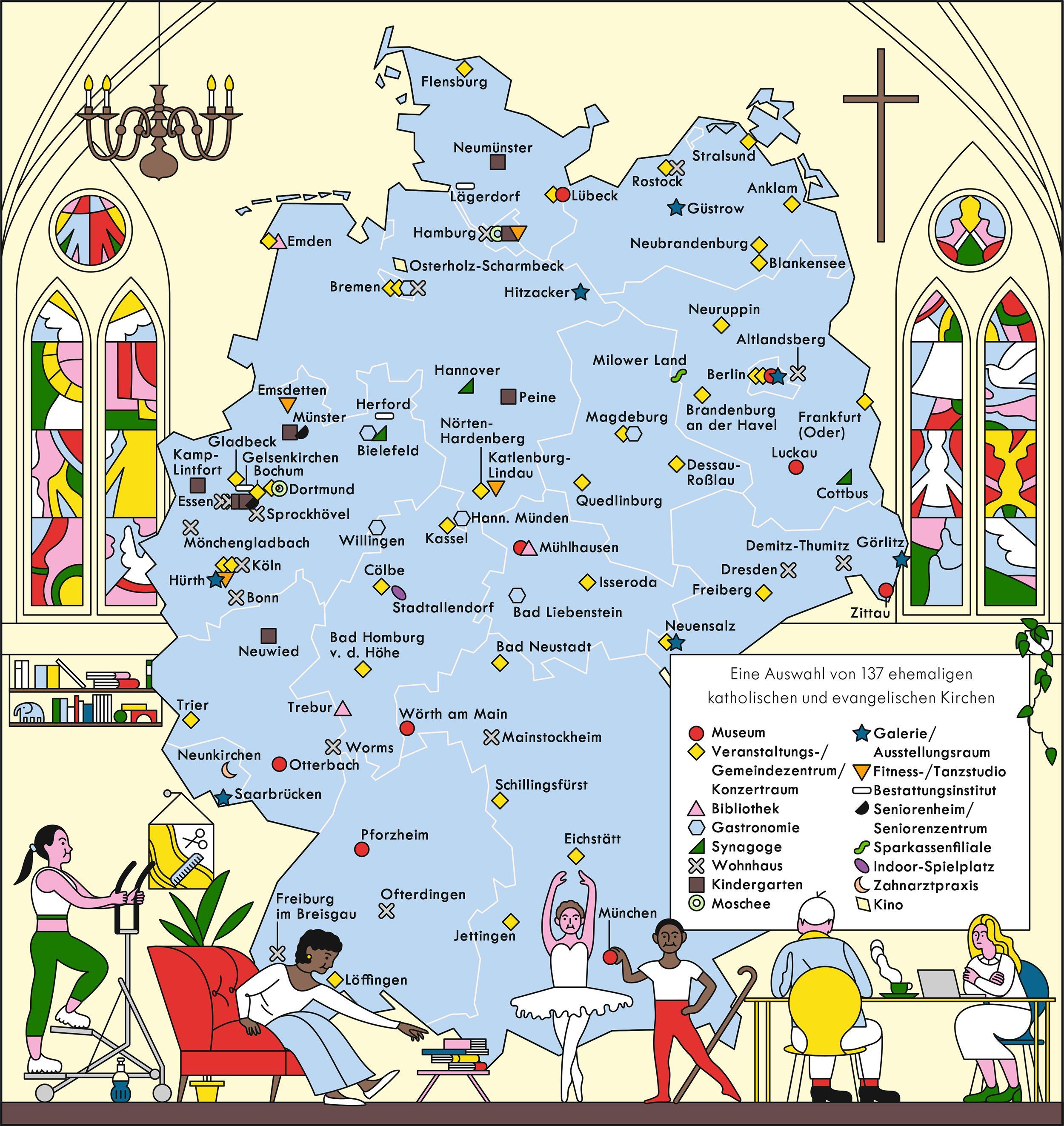 Deutschland: Hier wurde die Kirche abgekanzelt