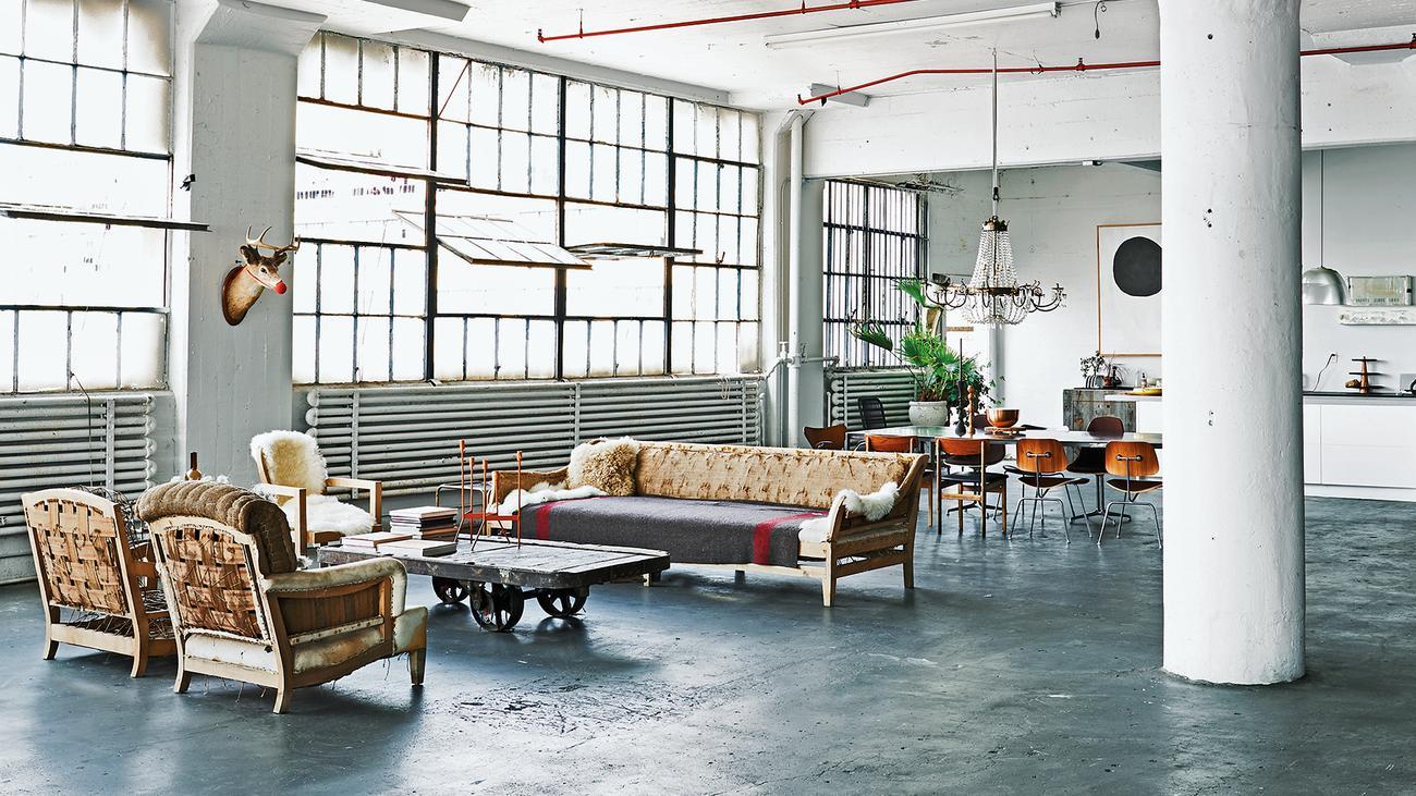 industriedesign wie die werkstatt wohnung wird zeitmagazin. Black Bedroom Furniture Sets. Home Design Ideas