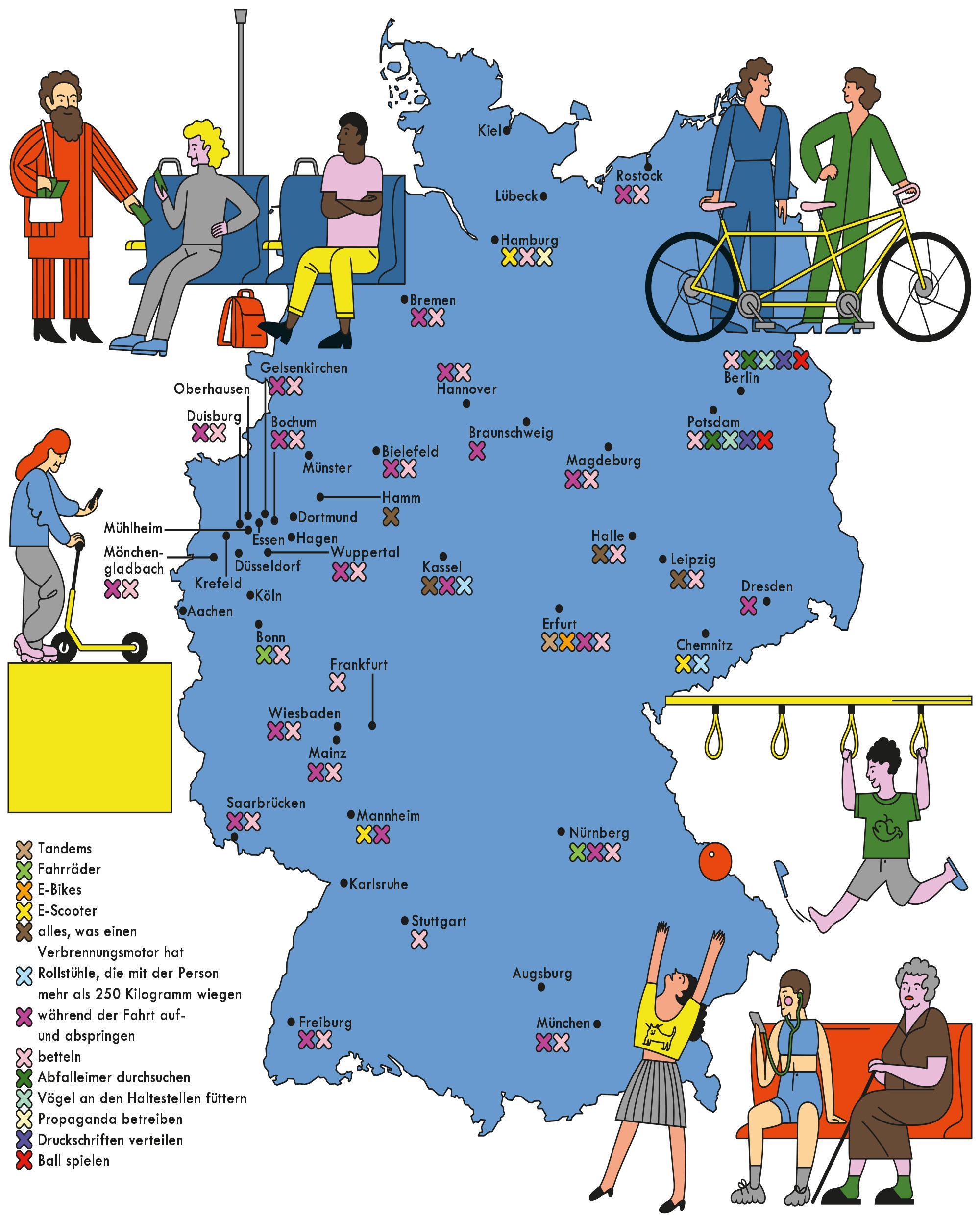 Verbote in Bus und U-Bahn: In Köln darf man alles, in Berlin gar nichts
