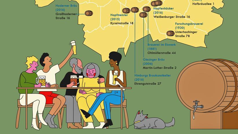 Brauereien: Münchenkarte