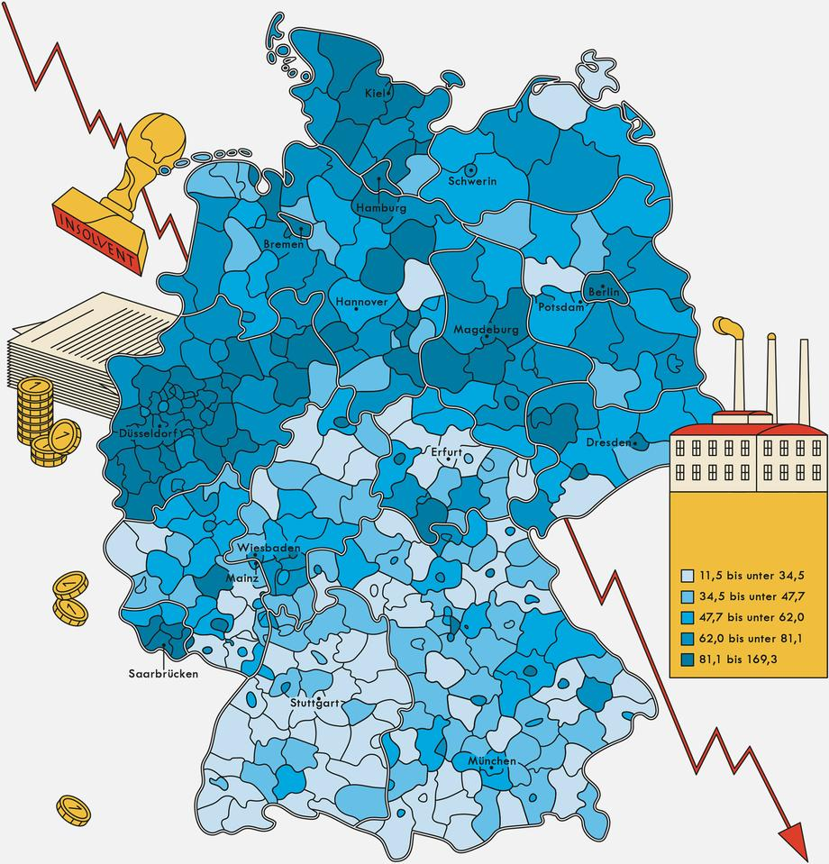 Deutschland Insolvenzen Zeitmagazin
