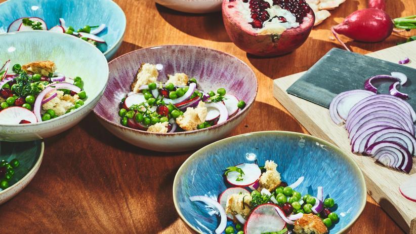 Salat aus Erbsen: Grillen ohne Nackensteak-Trauma