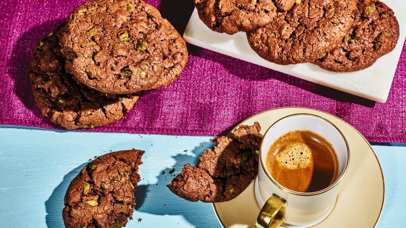 Schoko-Pistazien-Kekse: Diese Kekse lassen es krachen