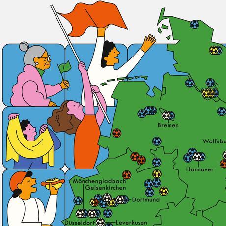 Fußballstadien: Wo sie reingehen