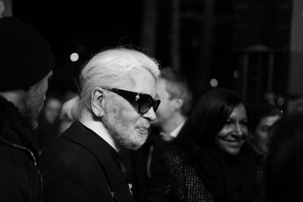 Modedesigner: Der deutsche Modedesigner Karl Lagerfeld im November 2018 in Paris