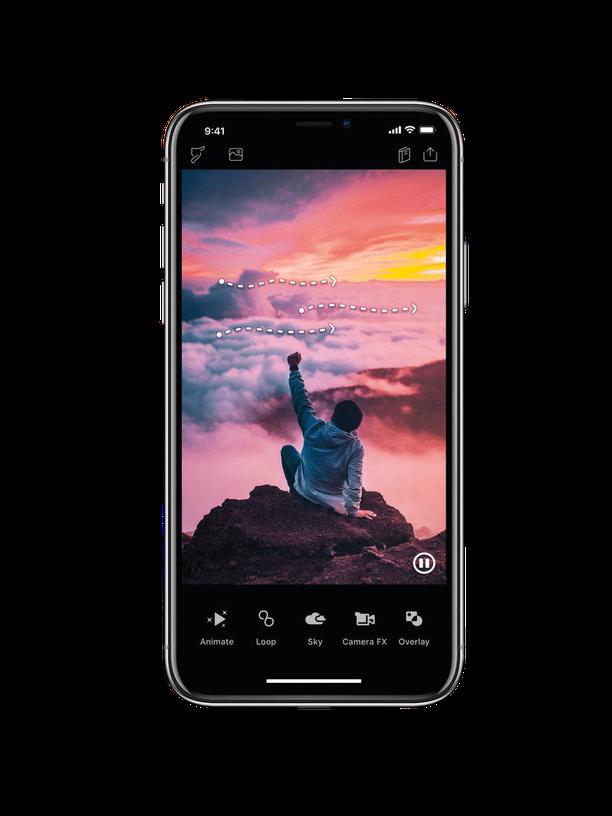 """App """"Enlight Pixaloop"""": Mirko Borsche bearbeitet ein Bild und lässt die Wellen brechen"""