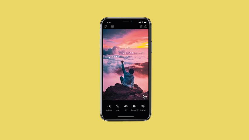 App Enlight Pixaloop: Urlaub als Fake-News