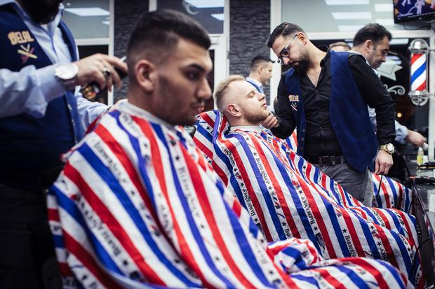 Arabischer Friseur: Der Barbershop Delal in Erfurt.