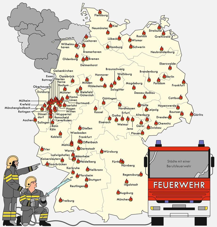 Deutschland Berufsfeuerwehren Zeitmagazin