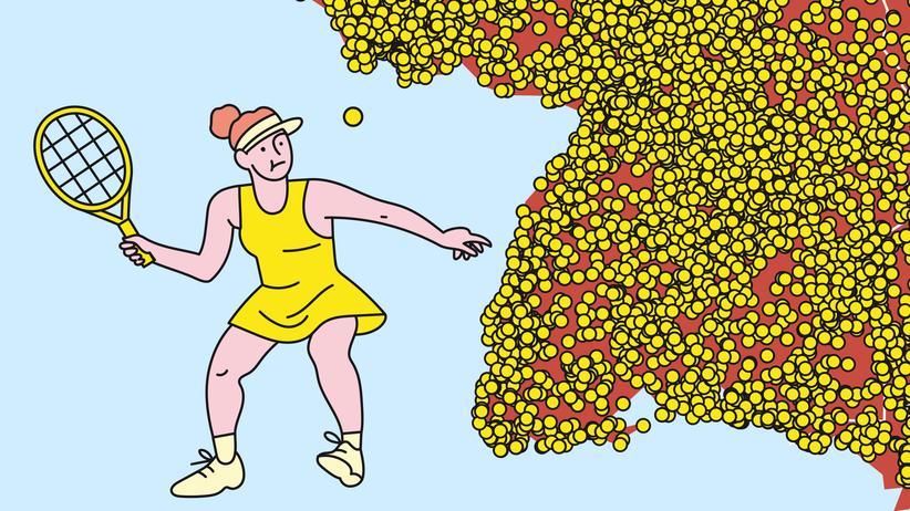 Tennisplätze: Die innerdeutsche Grenze verläuft am Court