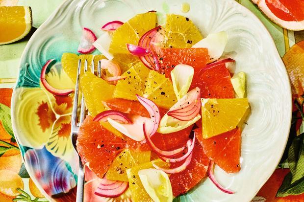 Salat mit Zitrusfrüchten: Scharf und sauer