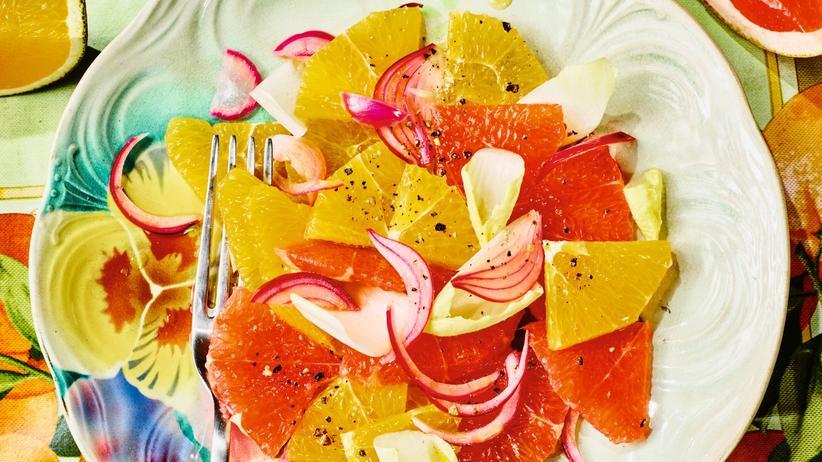 Salat mit Zitrusfrüchten: Der bittere Anfang