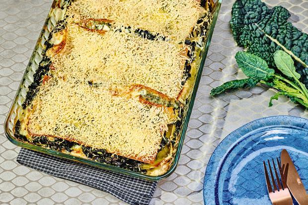 Lasagne mit Schwarzkohl: Mehr Lasagne wagen