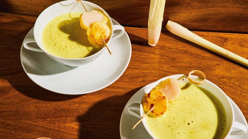 Cappuccino von Curry und Zitronengras: Süppchen, scharf und fruchtig