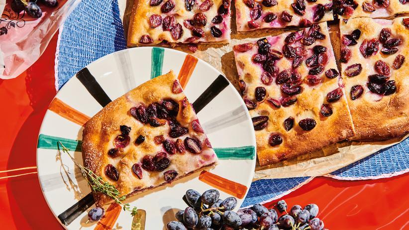 Süße Focaccia: Sommer im Brot
