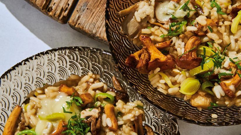 Risotto mit Pilzen und Gorgonzola: Nicht nur für Sammler