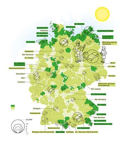 Deutschlandkarte Urlaubsorte Zeitmagazin