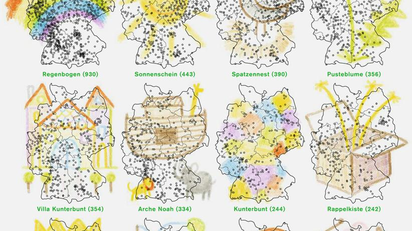 Deutschlandkarte: Sonnenschein im Zwergenland