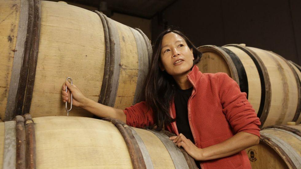 Burgund: die konservativste Weinlandschaft der Welt. Tomoko Kuriyama auf ihrem Weingut
