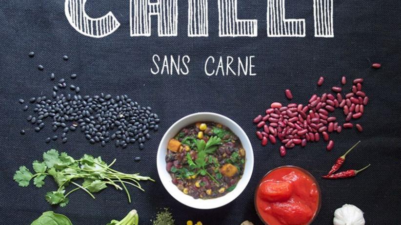 Chili sans Carne aus Bohnen und Süßkartoffeln