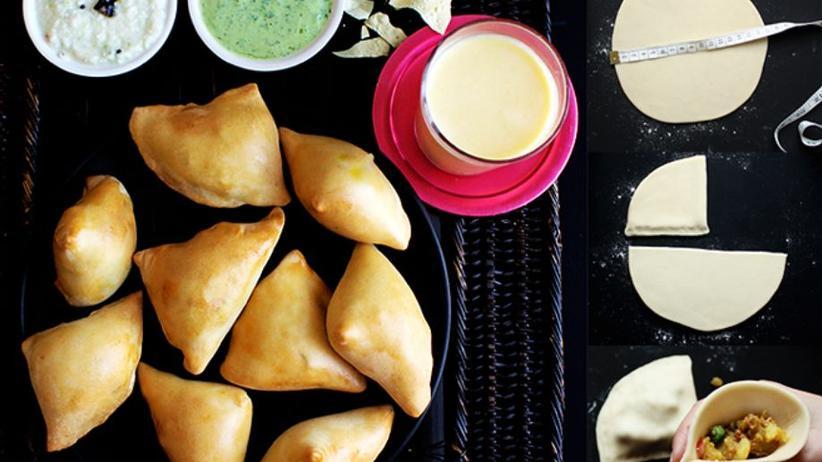 Samosas, indische Teigtaschen, sind traditionell vegetarisch gefüllt.
