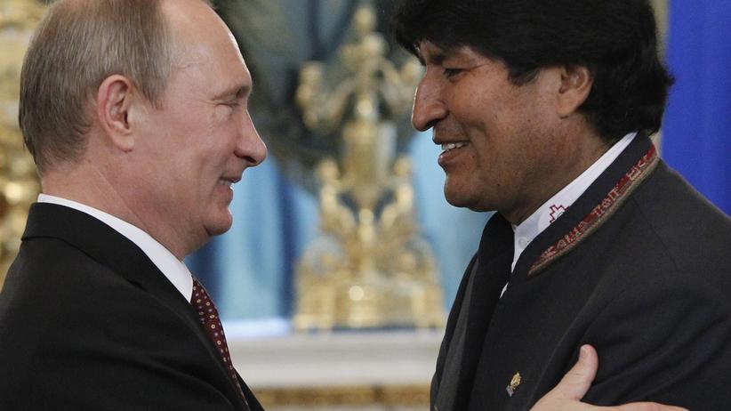 Wladimir Putin und Evo Morales