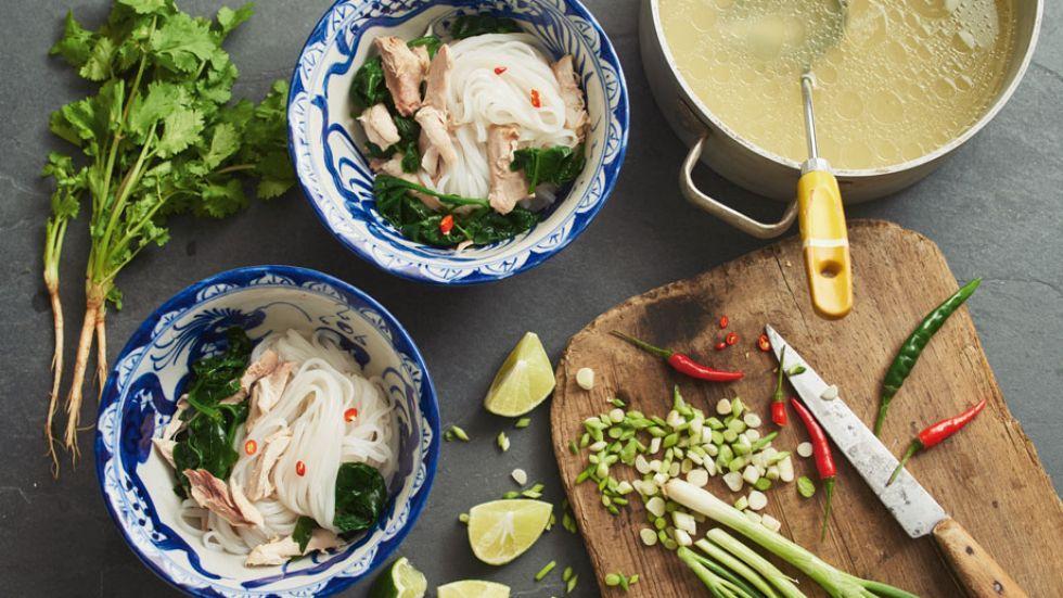 Wochenmarkt: Hühnersuppe asiatisch