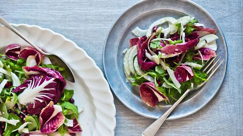 Radiccio-Granatapfel-Salat