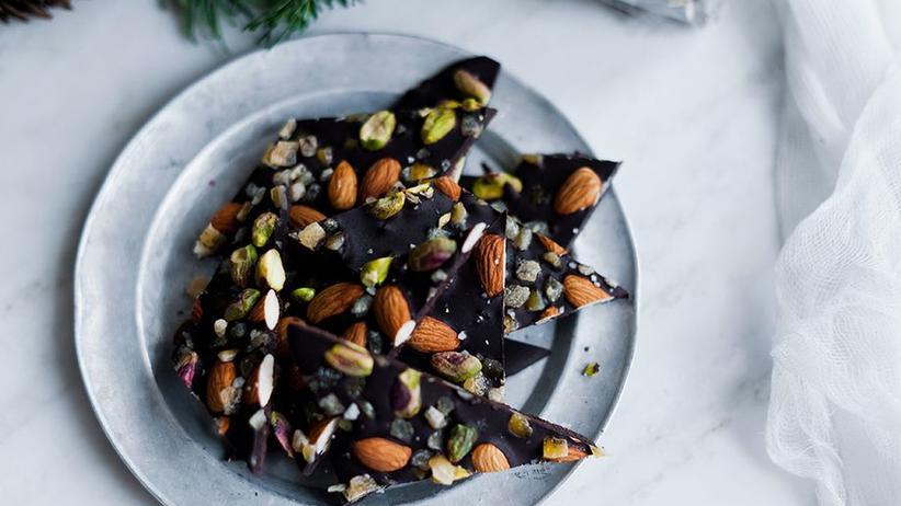 Salt-Kissed Dark Chocolate Barks