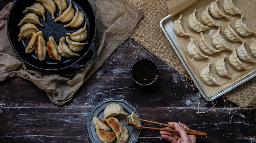 Dumplings mit drei Füllungen