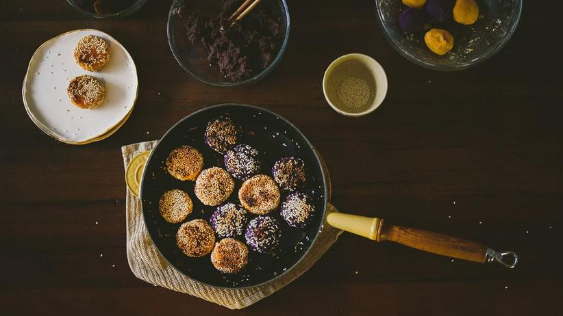 Süßkartoffel-Mochi-Kuchen