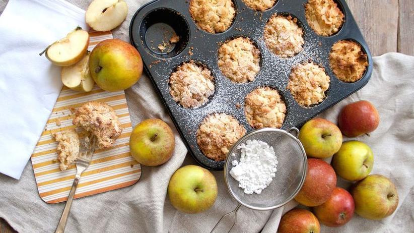 Apfel-Muffins mit Mandelsplittern