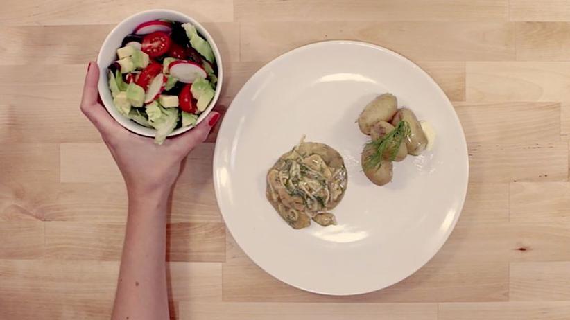 Vegetarischer Hering-Salat