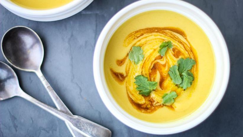 Blumenkohl-Erbsen-Suppe