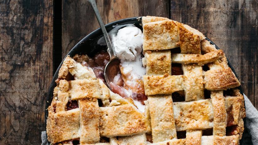 Nektarinen-Amarettini-Pie