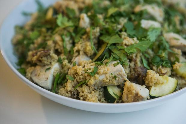 Orientalischer Couscous mit Huhn