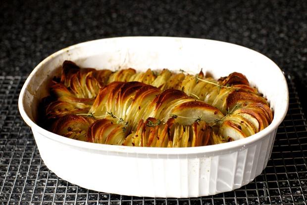 Sonntagsessen: Knuspriger Kartoffelbraten