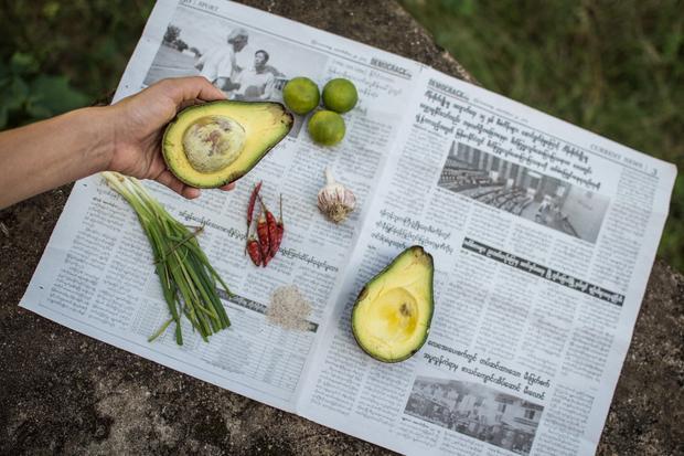 Burmesische Reisfeld-Guacamole