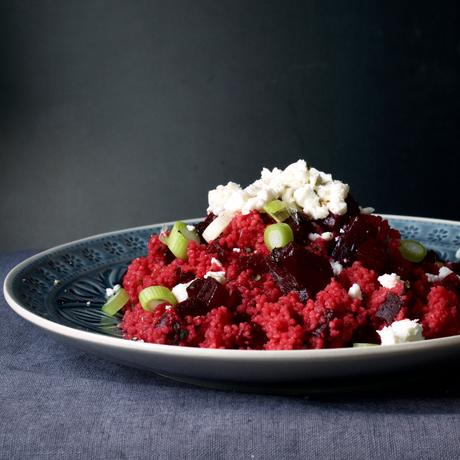 Couscous Salat mit Roter Bete