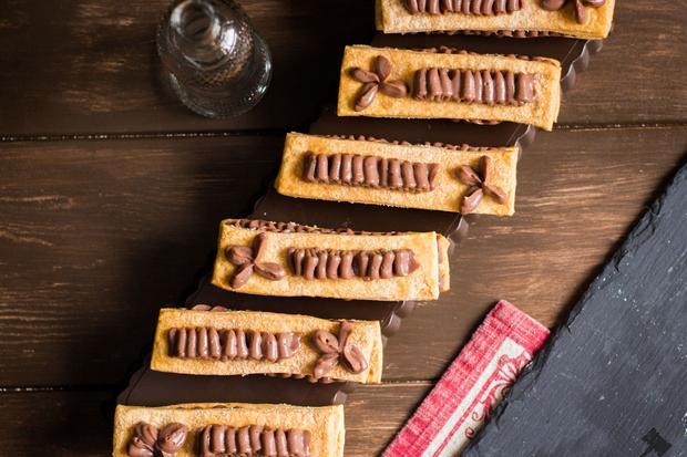 Millefeuille de crème pâttisière au chocolat
