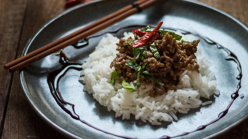 Asiatische Hackfleischpfanne