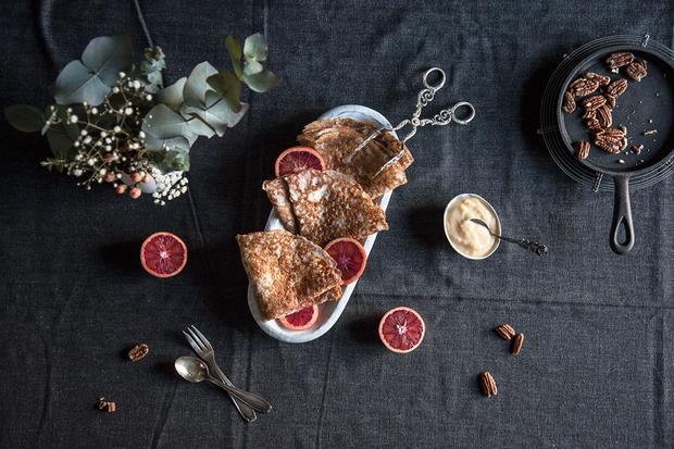 Sonntagsessen: Veganer Crêpe mit Orange Curd